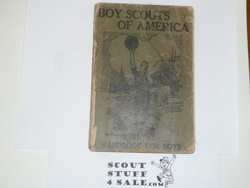 1911 Boy Scout Handbook, First Edition, PROOF PRINTING, 320 Pages, Some Cover and Spine Wear