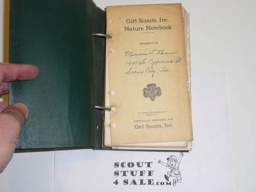 1926 Girl Scout Nature Notebook, Hundreds of Pages of Lefax Inserts About Nature