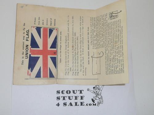 1920's British Boy Scout Flag Pamphlet