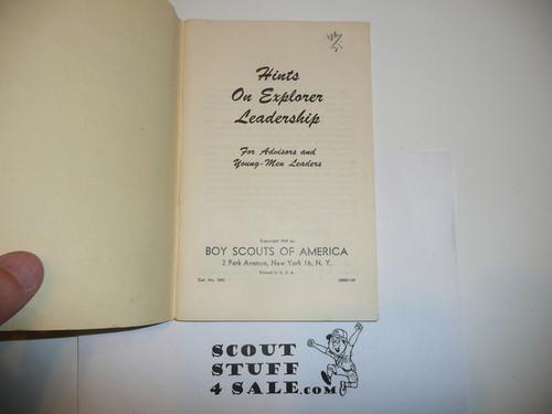 1949 Hints on Explorer Leadership, 11-49 Printing