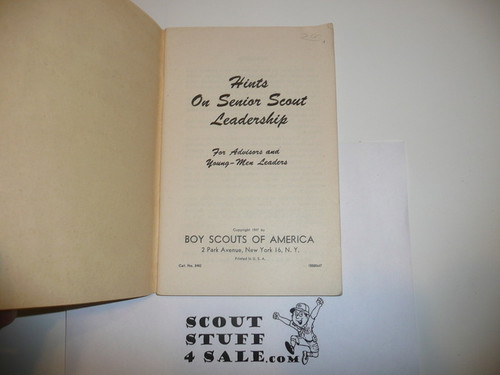 1947 Hints on Explorer Leadership, 6-47 Printing