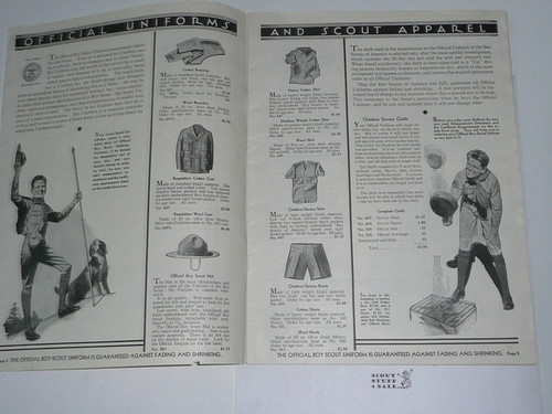 1932 Boy Scout Equipment Catalog, Missing Cover
