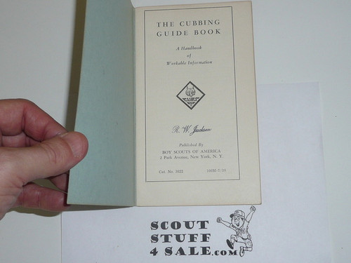 1939 The Cubbing Guidebook, 7-39 Printing
