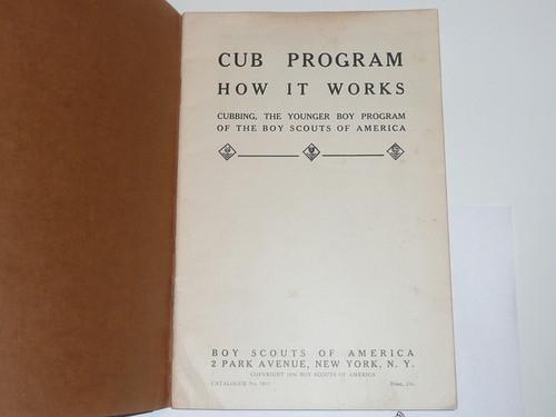 1936 Cub Program How it Works