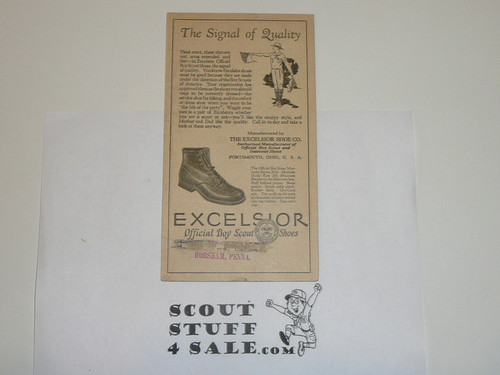Teens Excelsior Shoe Company BSA Promotional
