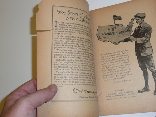 Service Clubs and Scouting, Boy Scout Service Library, No Cover Printing, 1929