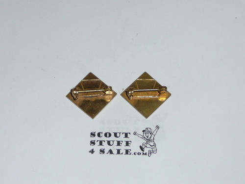 Pack Committeeman Collar Brass Pins, pin back