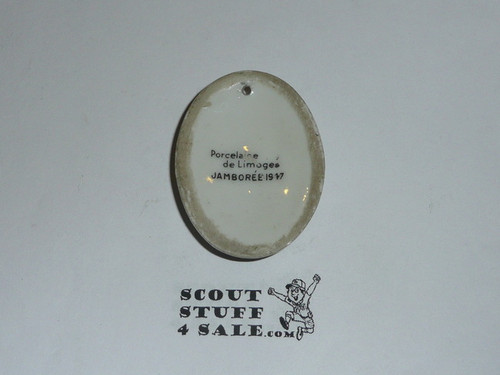 1937 Boy Scout World Jamboree Limogee Pendant given to Troop Leaders by the King (as relayed by person who was given it)