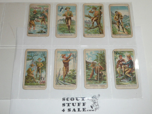 Fisher Candy Company, Philadelphia Pa, Boy Scout Card Series of 24, COMPLETE set, 1910