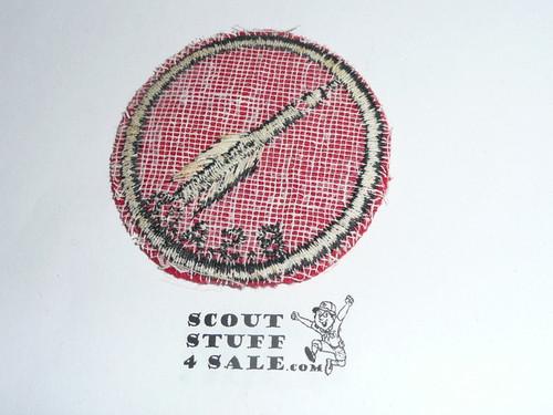 Rocket Patrol Medallion, Felt w/BSA black/White ring back, 1940-1955