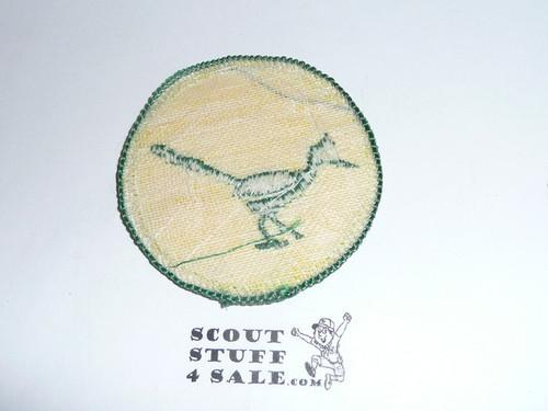 RoadRunner Patrol Medallion, yellow Twill with gauze back, 1972-1989