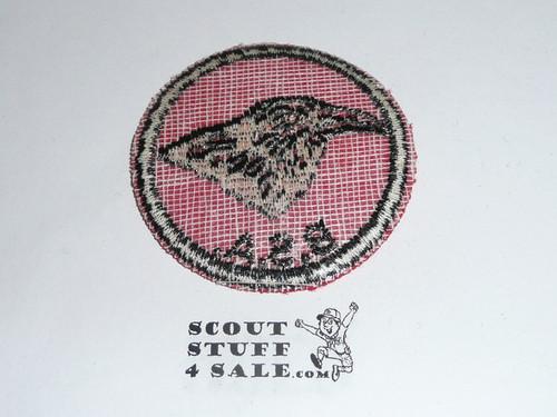 Raven Patrol Medallion, Felt w/BSA black/White ring back, 1940-1955