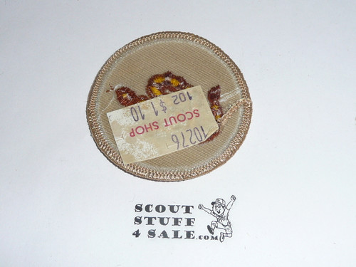 Rattlesnake Patrol Medallion, Tan Twill with plastic back, 1989-2002