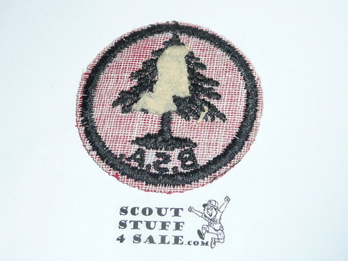 Pine Tree Patrol Medallion, Felt w/BSA & Solid Black Ring back, 1933-1939, Unused but small moth hole