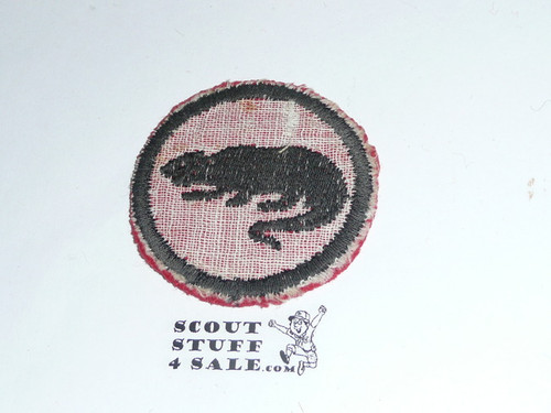 Panther Patrol Medallion, Felt No BSA & Gauze Back, 1927-1933