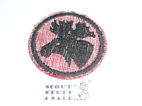 Moose Patrol Medallion, Felt No BSA & Gauze Back, 1927-1933