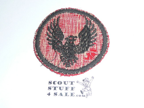 Flying Eagle Patrol Medallion, Felt No BSA & Gauze Back, 1927-1933