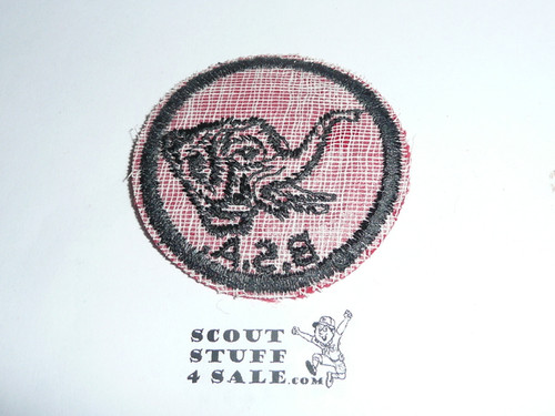 Elephant Patrol Medallion, Felt w/BSA & Solid Black Ring back, 1933-1939
