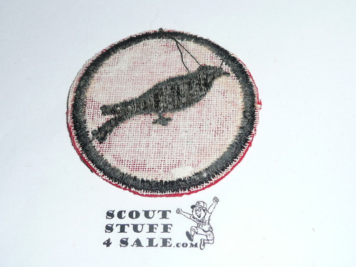 Cuckoo Patrol Medallion, Felt No BSA & Gauze Back, 1927-1933