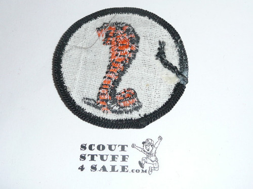 Cobra Patrol Medallion, Grey Twill with gauze back, 1972-1989