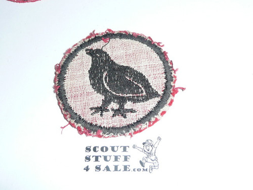 Bobwhite Patrol Medallion, Felt No BSA & Gauze Back, 1927-1933, used
