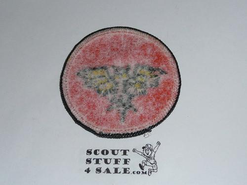 Bat Patrol Medallion, Orange Twill with paper back, 1972-1989
