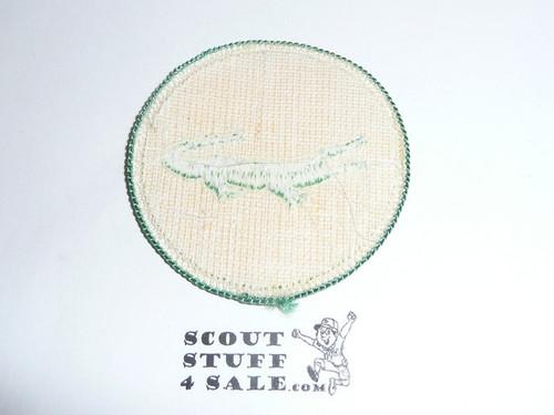 Alligator Patrol Medallion, yellow Twill with gauze back, 1972-1989