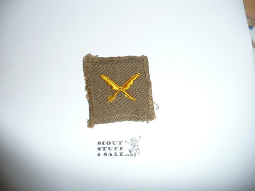 Scribe Patch - 1926 - 1942 - Tan Cloth (SC1) - Used