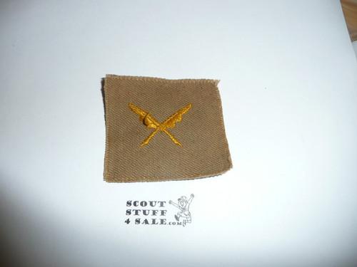 Scribe Patch - 1926 - 1942 - Tan Cloth (SC1)