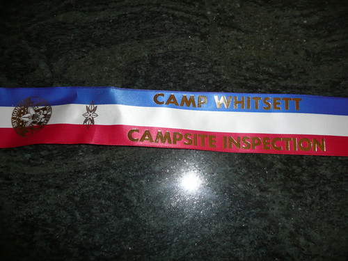 Camp Whitsett Troop Campsite Inspection Flag Ribbon - Scout