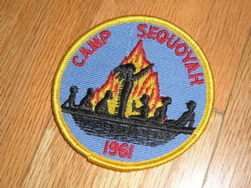 1960-1969 Camp Sequoyah Camp Patch Collection - Scout