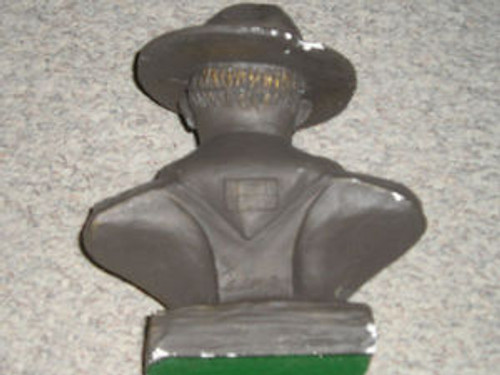 "Plaster Bust of Baden Powell - 9 1/2"" H x 7 1/2"" W - Scout"