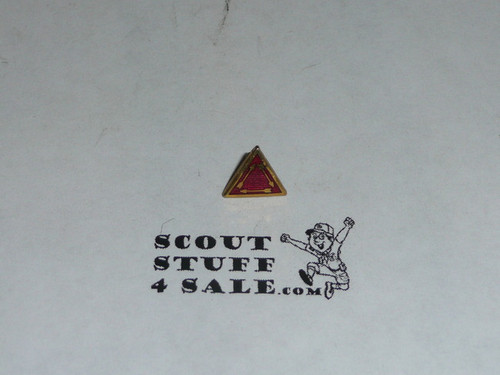 Order of the Arrow Vigil Pin for use on Drop Ribbon, OLD Screw Back