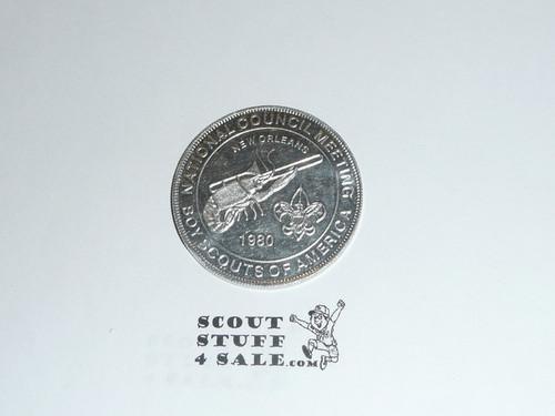 1980 National BSA Meeting Musical Mardi Gras Coin / Token