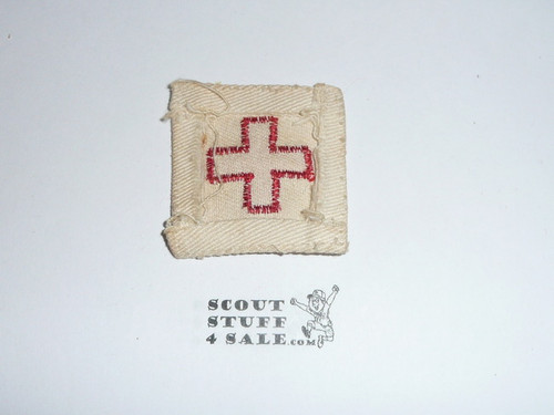 1930's Red Cross First Aid Uniform Patch, used