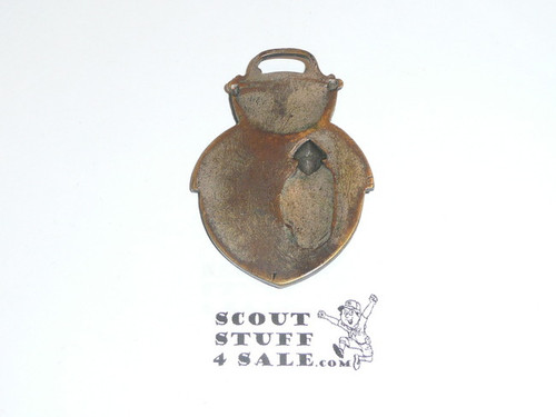 "Boy Scout Watch Fob, ""Two Scouts, the Old and the New"""