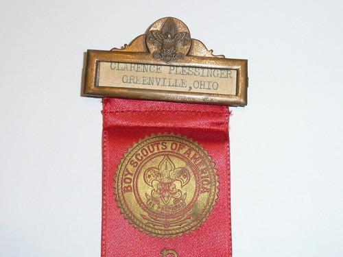 Old Boy Scout Reception Ribbon