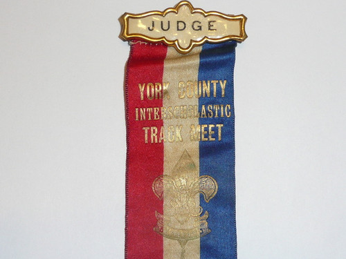 1917 Boy Scout Track Meet Judges Ribbon