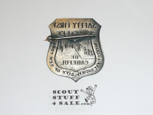 Safety First Scout Badge, Safety First Society New York City