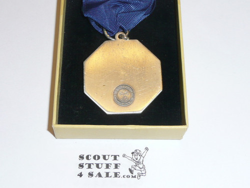 1930's Silver Boy Scout Contest Medal, Mint in Box