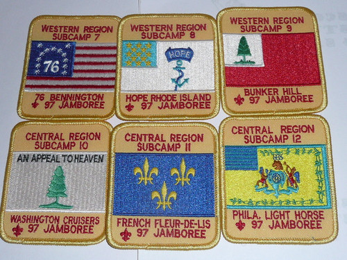 1997 National Jamboree Complete Set of Subcamp Patches