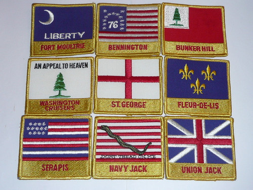1981 National Jamboree Complete set of Subcamp Patches and cards