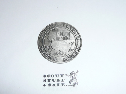 1973 National Jamboree Coin / Token, Pewter Color