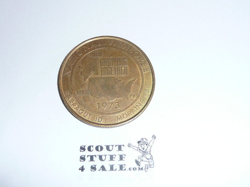 1973 National Jamboree Coin / Token, Gold Color