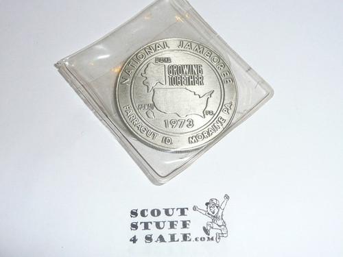 1973 National Jamboree Coin / Token, Chrome Color
