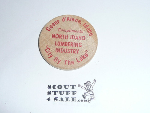 1969 National Jamboree Wooden Nickel / Token from the North Idaho Lumbering Industry