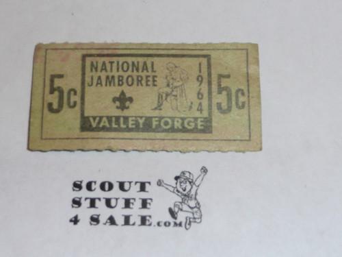 1964 National Jamboree Trading Post Ticket
