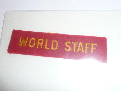 1937 National Jamboree WORLD STAFF Strip, Very Rare!