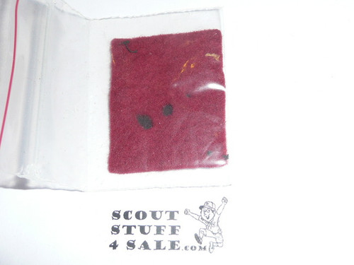 Wolf Patrol Medallion, Felt Rectangular, 1925-1926, Lt. Use