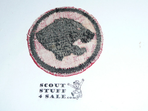 Tiger Patrol Medallion, Felt No BSA & Gauze Back, 1927-1933